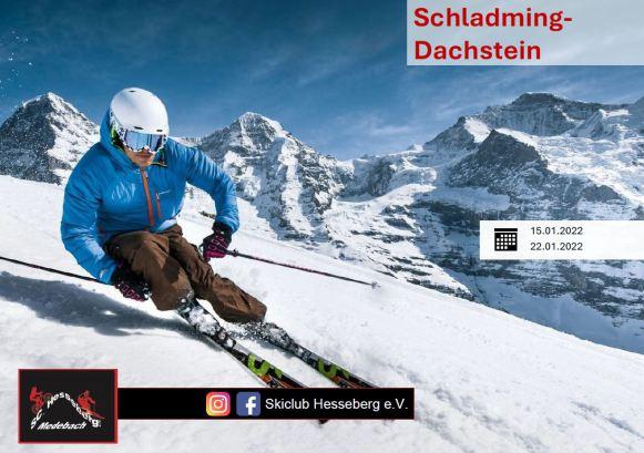 Flyer für Skireise 2022 in Schladming-Dachstein